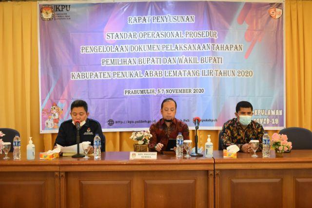 Siapkan Pertanggungjawaban, KPU PALI Gelar Rapat SOP Dokumentasi