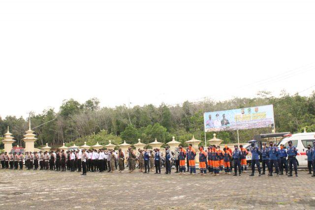 Jelang Idul Fitri, Polres PALI Gelar Apel Pasukan Bersama Pemkab PALI