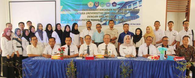 Lima SMK di PALI Teken MoU dengan Universitas PGRI