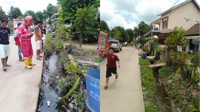 Pipa Minyak Mentah Pertamina Adera Bocor di Tengah Pemukiman