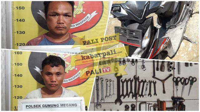 Mencuri di Ujan Mas, Dua Pemuda asal PALI ditangkap Polsek Gumeg