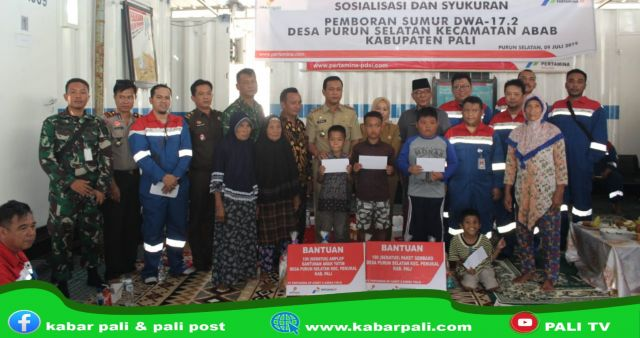 Syukuran Sumur DWA 17.2, Adera Field Salurkan Bantuan pada Warga Sekitar