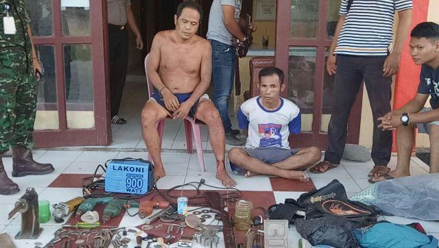 Tertangkap Tangan, Tim Keamanan Adera Field Amankan Pencuri Pipa