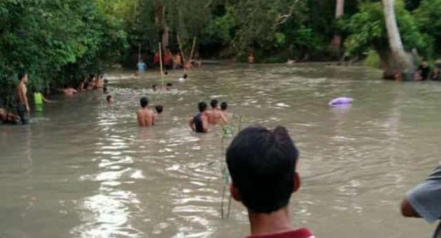 Naas, Siswi SMP Tenggelam di Sungai Sebagut